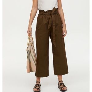 High waisted paper- bag  pants
